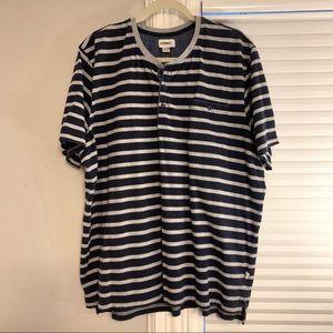 Como Man Navy And Grey Striped T Shirt XXL